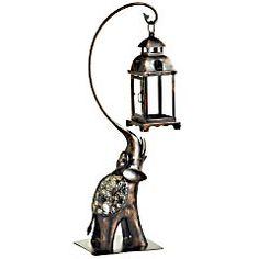 Mosaic Elephant Tealight Lantern