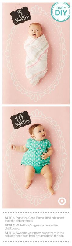 Monthly milestone pics are a fantastic way to document just how much Baby has…
