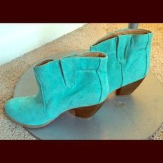 I just discovered this while shopping on Poshmark: Teal Booties. Check it out!  Size: 6.5