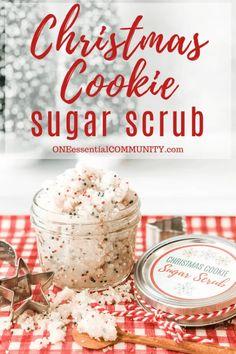 Body Scrub Recipe, Diy Body Scrub, Sugar Scrub Recipe, Diy Scrub, Easy Homemade Christmas Gifts, Diy Christmas, Easy Gifts, Christmas Pictures, Handmade Christmas