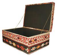 Large Ottoman opened