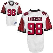 Jamaal Anderson Jersey, #98 Atlanta Falcons Authentic Jersey in White  ID:354  Price:$20
