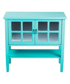 Look what I found on #zulily! Turquoise Mirror Window Two-Door Console Table #zulilyfinds