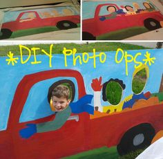 DIY photo ops using plywood & simple stand