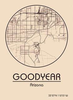 Karte / Map ~ Goodyear, Arizona - Vereinigte Staaten von Amerika / United States of America / USA
