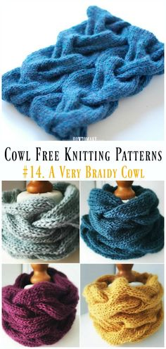 A Very Braidy Cowl Free Knitting Pattern - Cowl Free Patterns Bonneterie Fantastic Women Cowl Free Knitting Patterns Shawl Patterns, Knitting Patterns Free, Free Knitting, Crochet Patterns, Knitted Cowl Patterns, Snood Knitting Pattern, Infinity Scarf Knitting Pattern, Free Pattern, Amigurumi Patterns