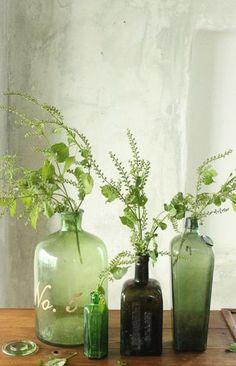 green glass vignette