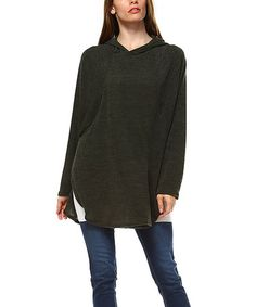 Another great find on #zulily! Charcoal Hooded Side-Slit Tunic - Plus by A La Tzarina #zulilyfinds