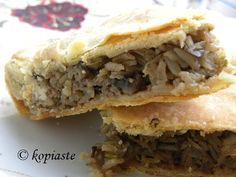 Μανιταρόπιτα με Πιπεριές http://www.kopiaste.info/?p=10747 Manitaropita me Piperies (Mushroom Pie with Peppers) http://kopiaste.org/2013/02/manitaropita-me-piperies-homemade-greek-mushroom-pie-with-peppers/