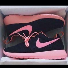 96fae102ff15 Black And Pink Roshe Runs Pink Nikes