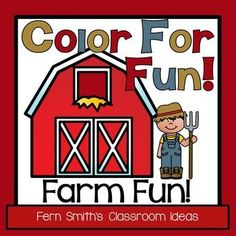 Farm Animal Fun! Color For Fun Printable Coloring Pages! This Color For Fun is Perfect for when you are reading and studying about the farm and farm animals! 28 Coloring Pages for your classroom or personal children's fun! #FernSmithsClassroomIdeas