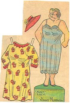 Toots and Casper - Aunt Lucy She looks so mean. * 1500 free paper dolls at Arielle Gabriel's The International Paper Doll Society and also free China and Japan paper dolls at The China Adventures of Arielle Gabriel *