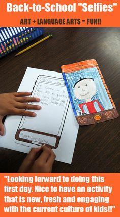 """Nuevo, motivador ... y nos ayudará a conocerlos ... Great Back-to-School art integration activity from """"Art with Jenny K."""""""