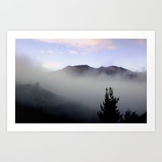 Fog, Mountains, Sky, Nature, Soft Focusing, Photography, Tasmania, Australia.