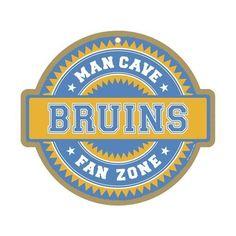 Boston Bruins Man Cave Fan Zone Wood Sign
