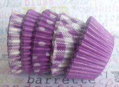 mini assorted purple cupcake liners