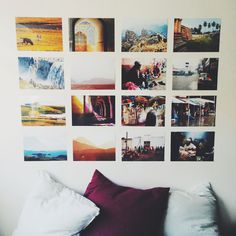 I made my new photo wall last night with 16 of my own photos from a few of my more recent travels. The first row (from left to right) is Iceland, the second is Iran, the third is Ethiopia, and the last one is India. - Imgur