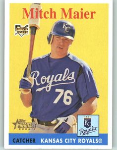 2007 Topps Heritage 39 Mitch Maier RC - Kansas City Royals (RC - Rookie Card) (Baseball Cards) ** Check this awesome product by going to the link at the image.