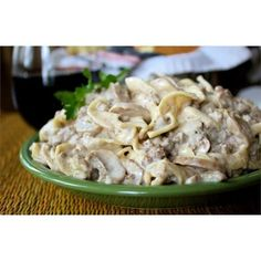 """Simple Hamburger Stroganoff   """"This recipe was very good and simple to make. It does make quite alot, especially for just me and my husband. But, it turned out to be a good thing, as hubbie ate 90 % of it!"""""""