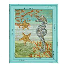 Jeweled Coastal Framed Art Print   Kirklands