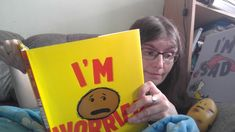 """""""Today is launch day for Michael Ian Black and Debbie Ridpath Ohi's I'M WORRIED, in which a potato is worried, and we all feel that very much. The book was published by In this photograph, I am reading it to a potato, who is worried. I'm Sad, Im Bored, Work On Yourself, Twitter Sign Up, No Worries, The Book, Potato, Photograph, Product Launch"""
