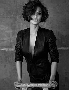 Famed fashion photographer René Habermacher lends his lens to the lovely Michella Cruz for a GQ Russia editorial for December 2012.