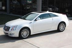 Cadillac CTS Coupe. White.....