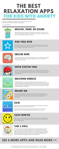 15 Mindfulness and Relaxation Apps for Kids with Anxiety 15 Apps for Kids with Anxiety. I think this is important to have for kids that struggle with anxiety. If a student is anxious they are less likely to learn. Coping Skills, Social Skills, Anxiety Help, Smiling Mind, Relaxation Pour Dormir, Mindfulness For Kids, Mindfulness Activities, Relaxation Activities, Ptsd