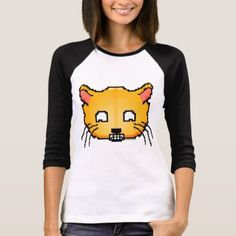 Pixel Happy Cat T-Shirt - retro clothing outfits vintage style custom Cat Carrier, Girls Wardrobe, Custom Shirts, Women's Shirts, Comfy Casual, T Shirt Diy, Vintage Fashion, Vintage Style, Retro Outfits