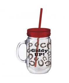 Evergreen Giddy Up Jar Insulated 20oz Cup with Straw
