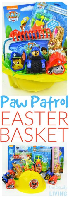 DIY Paw Patrol Easter Basket (For a Toddler) Simplistically Living #SeesCandies @seescandies