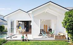 a renovated villa with generous indoor-outdoor living zones