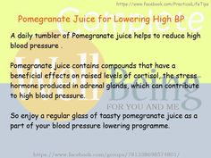 Practical Life Tips For You And Me: #Pomegranate Juice for Lowering #High #Blood #Pres...
