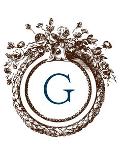 Free monogram....g is for Gillam!