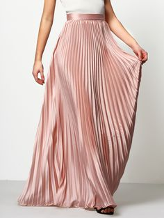 Online shopping for Pink Pleated Maxi Skirt from a great selection of women's fashion clothing & more at MakeMeChic.COM.
