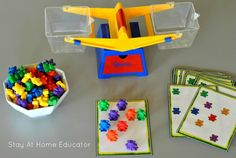 Counting bears and balancing scale printables_more advanced