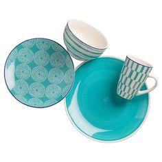 Euro Ceramica® Simpatico Earthenware 16pc Dinnerware Set. Black Panther home decor inspo. Tag: ethnic exotic tribal wakanda forever tchalla wakanda warrior okoye