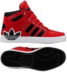 wholesale dealer 3f0a5 9e382 adidas Hard Court Hi Big Trefoil Shoes Adidas High Tops, Tenis Adidas,  Adidas Shoes