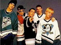 backstreet boys Nick is wearing a DUCKS Jersey!!! It's true love!