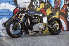 Triumph Thruxton 2008 by Triumph Salt Racer #motorcycles #caferacer #motos | caferacerpasion.com