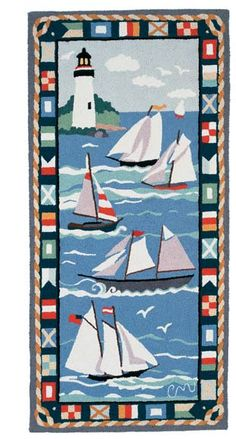 Claire Murray - Hand Hooked Rugs - Sailing Runner