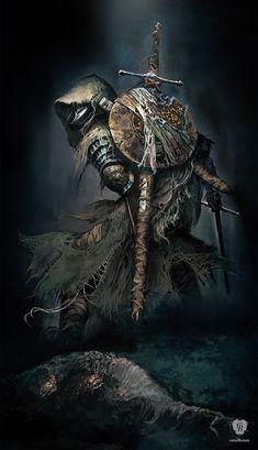 Artwork Fallen Knight - Dark Souls III FromSoftware