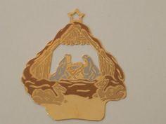 Brass NATIVITY Christmas Ornament G Duchin by baublesandblingforu, $4.00