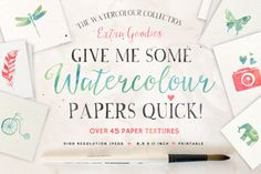 Give me some Papers Quick by Nicky Laatz on Creative Market