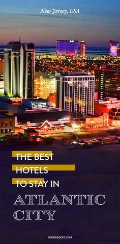 Our favorite Atlantic City boardwalk hotels to make the most of your vacation!  atlantic city, atlantic city new jersey, atlantic city boardwalk, atlantic city bachelorette party, things to do in atlantic city #newjersey