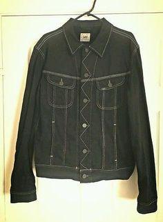 Lee Rider Denim Jacket Black Urban Outfitters Hipster Indie Rock'n'Roll