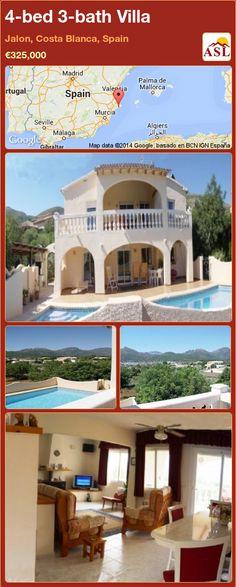 4-bed 3-bath Villa in Jalon, Costa Blanca, Spain ►€325,000 #PropertyForSaleInSpain