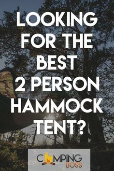 In this article we will talk about the best 2 person hammock tent. We know staying in your tent alone can sometimes be boring and for some they prefer to stay with their partners, friends or kids together.