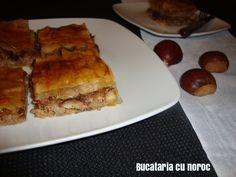 Placinta de carne si castane - Bucataria cu noroc Noroc, French Toast, Pie, Breakfast, Desserts, Torte, Morning Coffee, Tailgate Desserts, Cake