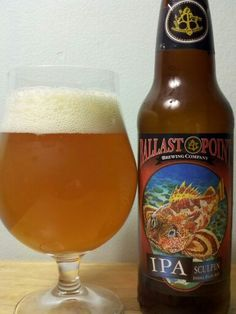Ballast Point Brewing Co. (CA) Sculpin IPA - ba 98 abv 7%, one of the most popular beers of San Diego